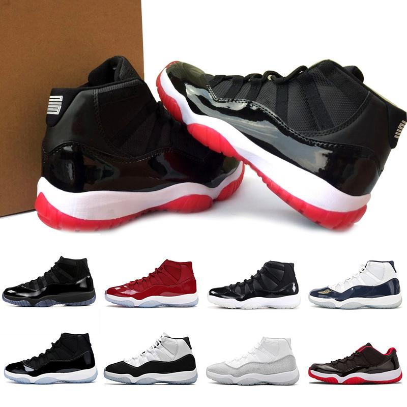 1.1New Bred 11 Men Women Basketball Shoes Metallic Silver 11s Concord 45 Jumpman 23 Snakeskin Cap and Gown Gamma Blue Trainers Mens Sneakers