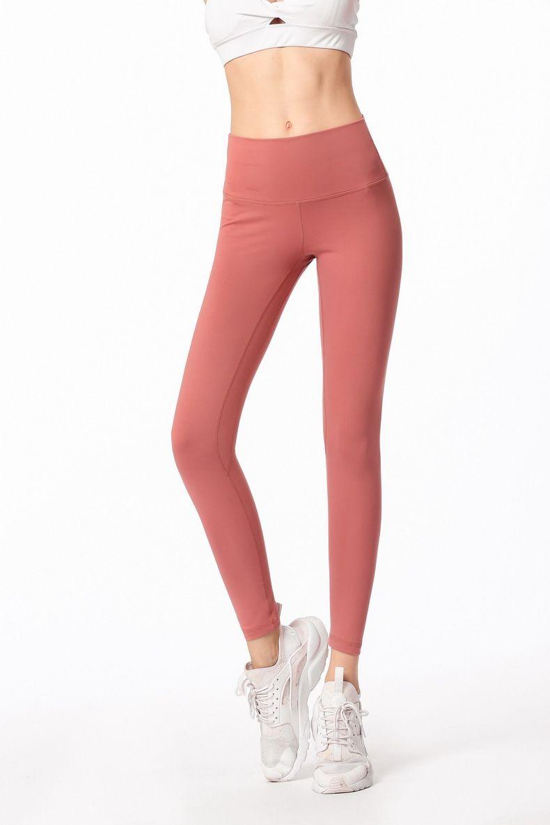 فريدة من نوعها للمرأة عالية الخصر اللباس اليوغا سروال مصمم الأزياء الصلبة ملابس رياضية رياضة مطاطا للياقة البدنية سيدة الجوارب بنطلون تجريب