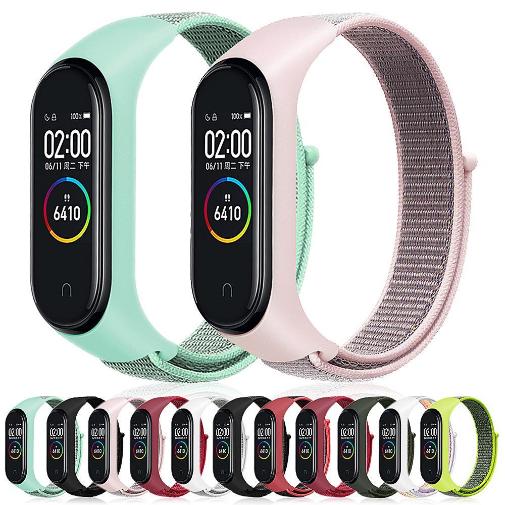 Нейлоновый ремешок для Xiaomi Mi band 4 сменные смарт-часы браслет Браслет для Mi Band 4 NFC Mi4 Global женщины мужчины браслет