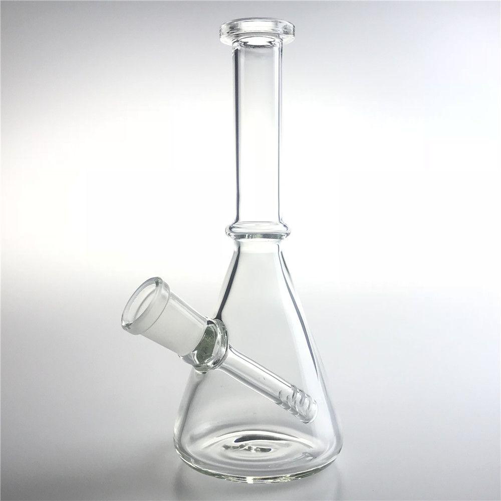 Bang di acqua di vetro da 6 pollici con narghilè 14mm femmina dritto Recycler Bong Spessore Pyrex Cancella mini DAB Beaker Pan per fumare