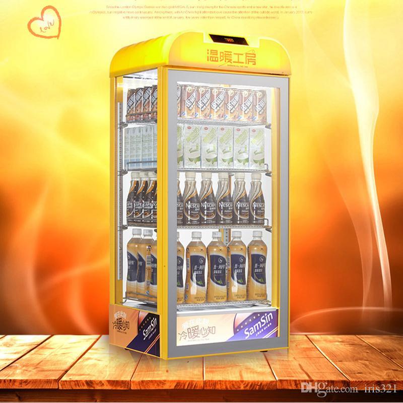 95L Vetrina di riscaldamento per bevande in vetro temperato commerciale latte giallo termostato per vino macchina per riscaldamento di bevande macchina per bevande calde