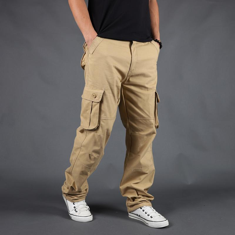 2020 Brand Mens Cargo Pants Multi-pockets Baggy Men Pants عرضية Overalls Army Cargo High Quality