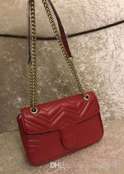 couleur blanche Femmes Sacs à bandoulière femmes sacs à chaîne crossbody mode sac 27cm sacs à main en cuir noir sac à main femme 2019