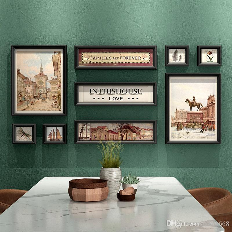 2019 Retro Style Living Room Hanging Picture Frame Cheap Combination Wall  Photo Frame Porch Wall Panting Picture Frame Art Home Decor From Cindy668,  ...