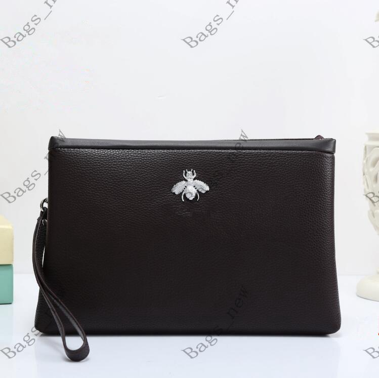 مصمم حقيبة الأعمال الكلاسيكية عارضة زيبر اليد مغلف حقيبة محفظة سعة كبيرة رجال والنساء أزياء الفاصل حقيبة الحجم: 28 * 18 * 3CM