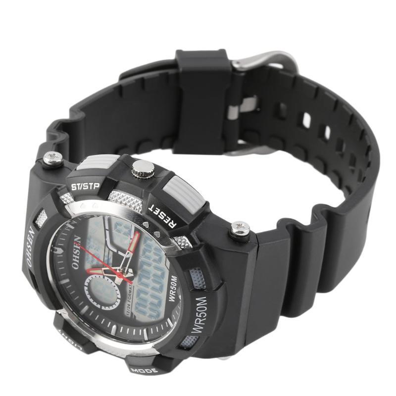 Armbanduhr Sport-Uhrenarmband-Leder Wasserdicht Frauen Männer AD1512