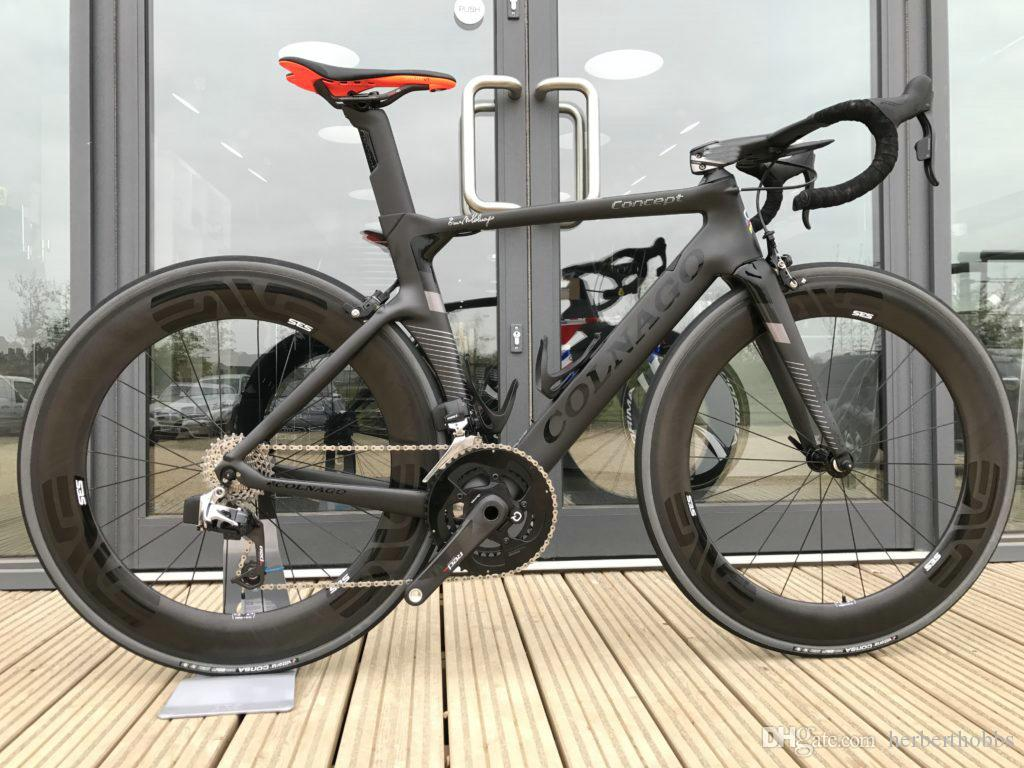 BOB Colnago لمفهوم الطريق دراجة الكربون الأسود دراجات مخزن كاملة الدراجة مع Ultegra Groupset 88mm وبوب العجلات