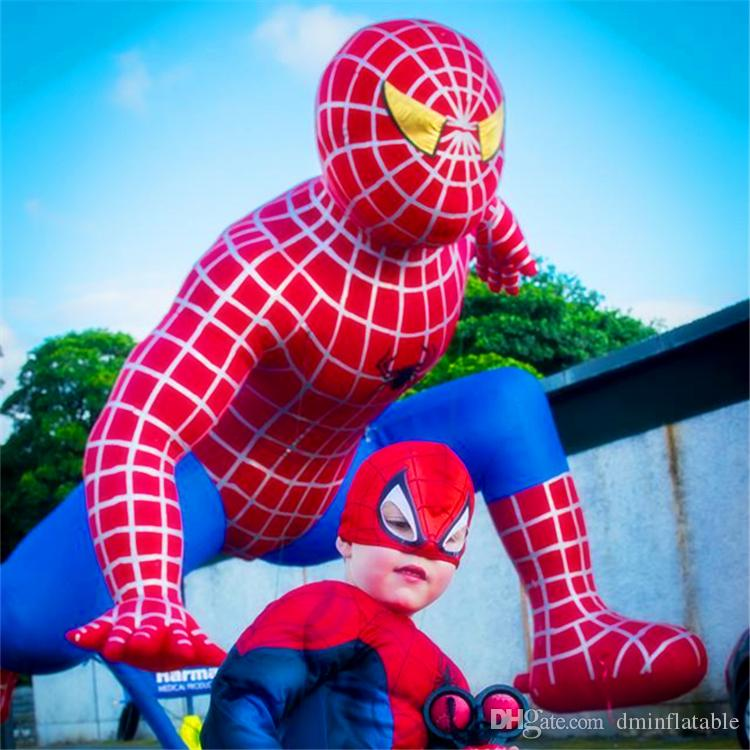 3m hohe Qualität Aufblasbare Spiderman aufblasbaren Ballon-Skulptur Kunst, aufblasbare Spider Man