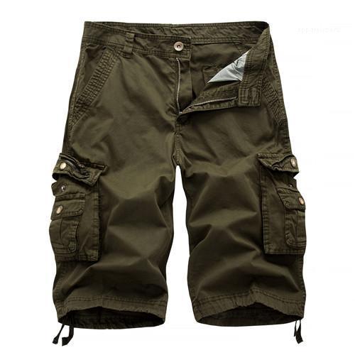 Homme Vêtements pour hommes Designer Pantalons Shorts d'été Mode couleur solide Poches genou mâle Longueur Cargo Pantalons simple