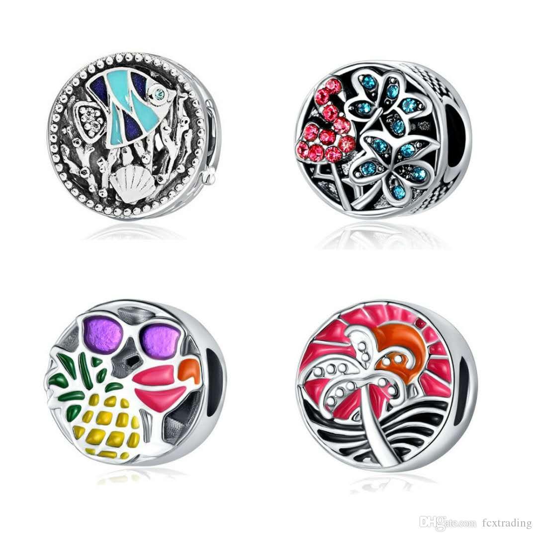 2020 perles charme printemps charmes colorés propres à Bracelet Collier Accessoires de bricolage Bijoux