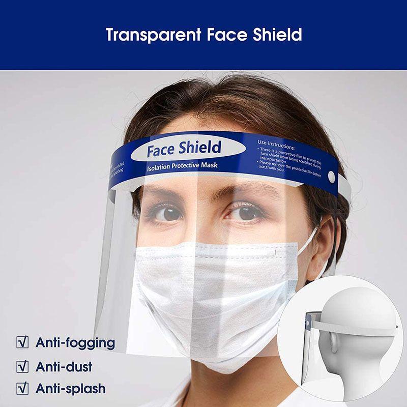 Trasparente della mascherina protettiva Isolamento Anti-Fog Visiera Full Face Visor Protezione del fronte pieno evitare spruzzi goccioline di sicurezza