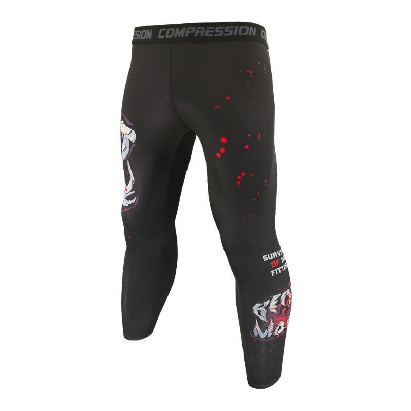 Men Breathable Compression Tights Sport Running Jogging Leggings Gym Training Pants Long Trousers Slim Fitting Leggings for Men