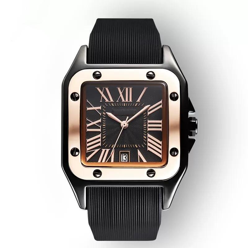 Venda quente silicone banda mulheres homens Relógios Montre 34 milímetros Women Watch 39 milímetros Men Watch Top Quality luxo Quartz Mulher Relógios de mão