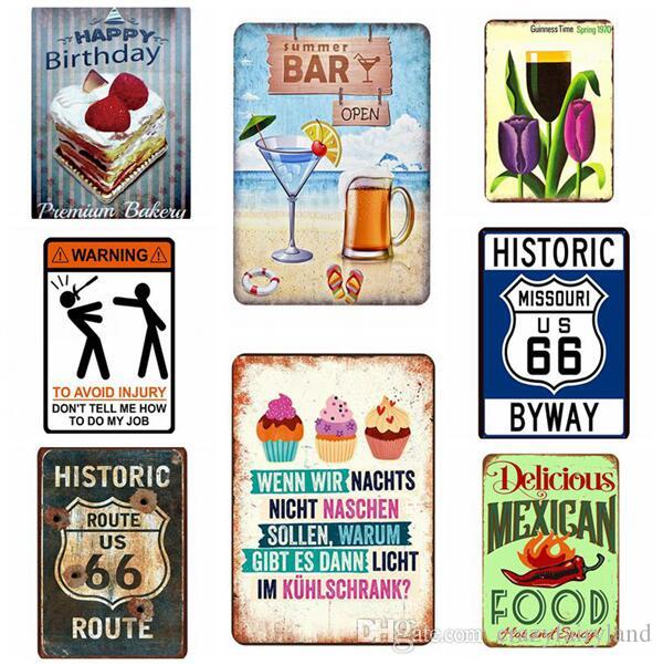 Cheers Around The World Tin Sign Vintage Wall Art Retro TIN SIGN Route 66 Old Wall Metal Painting ART Bar Restaurant Home Decoration