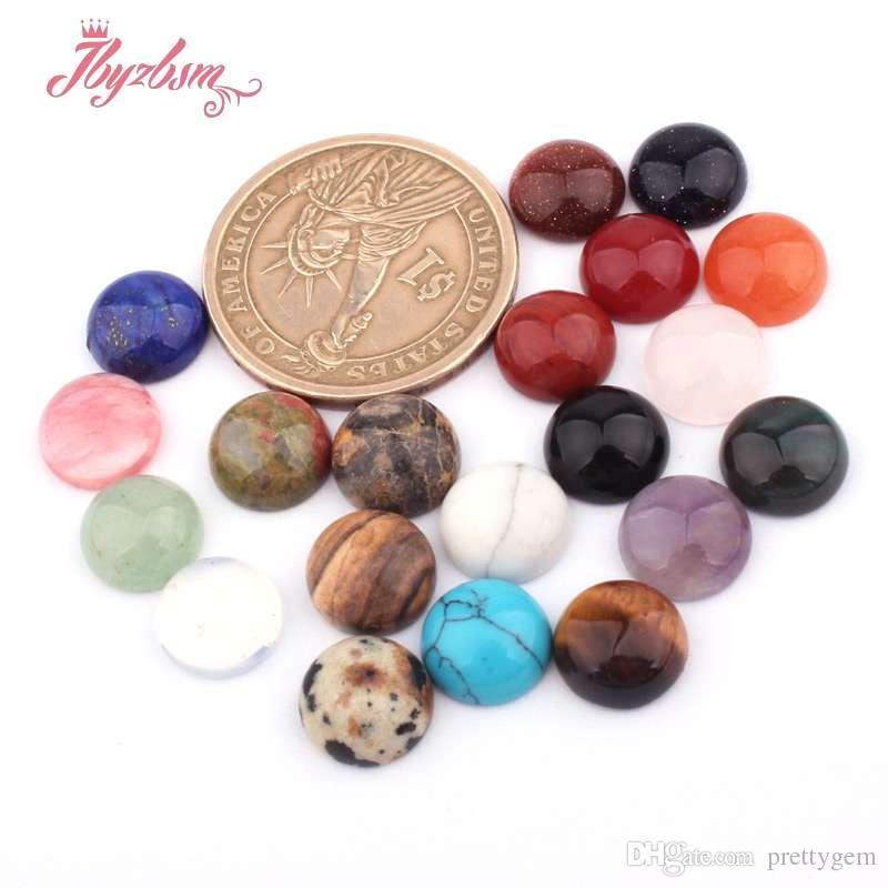 10 ملليمتر كوين الخرز كابوشون flatback قبة undrilled الحجر الطبيعي الخرز ل diy pandandt حلق مجوهرات جعل الحرفية 10 قطع