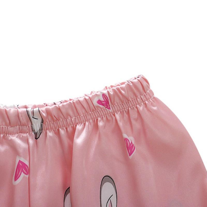Boys Girls Kids Pajama Sets Autumn Winter Long Sleeve Children's Tops+Pants Pajamas Sleepwear Silk Pajamas Sets for Kids