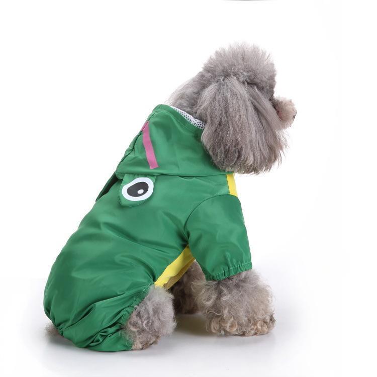 Nova capa de chuva impermeável produtos para animais cão capa pouco amarelo pato capa pequenos animais roupas estilos de tecido de dupla camada