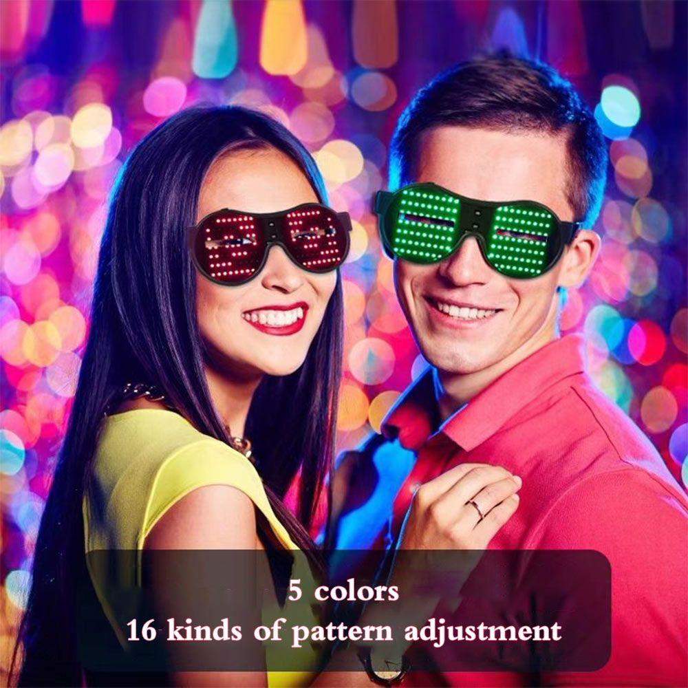 LED 동적 패턴 BRELONG 16가지 발광 안경 바 파티 분위기 등을 1 개를 점멸주기를 조정