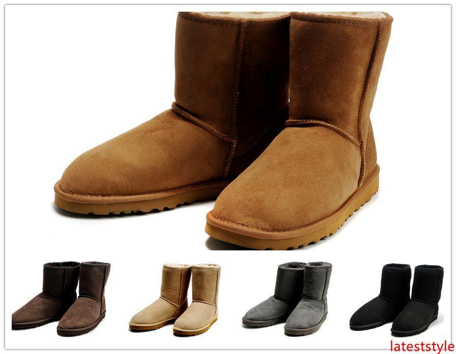 stivali di pelle di avvio superiore di nuovo della moda australiana classiche di alta stivali invernali femminili di avvio della neve