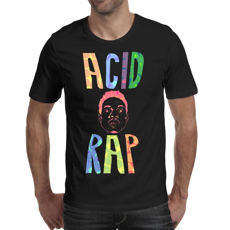 Mode-Männer Druck Chance des Rapper Logo T-Shirt schwarz Design Machen Sie ein Shirt amerikanischen The Rapper Säure Rap Rubiks Würfel Regen Kunst-Logo
