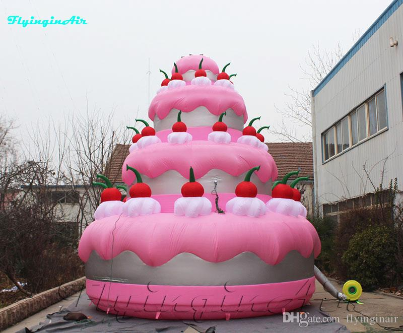 Brilliant 2020 7M Giant Birthday Cake Advertising Inflatable Wedding Cakes Birthday Cards Printable Benkemecafe Filternl
