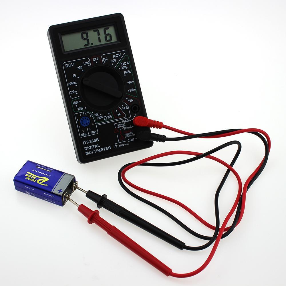 LCD Mini multímetro digital DT-830B Elétrica Voltímetro Amperímetro Ohm Tester AC / DC 750 / 1000V Amp Volt Ohm Tensão medidor Tester