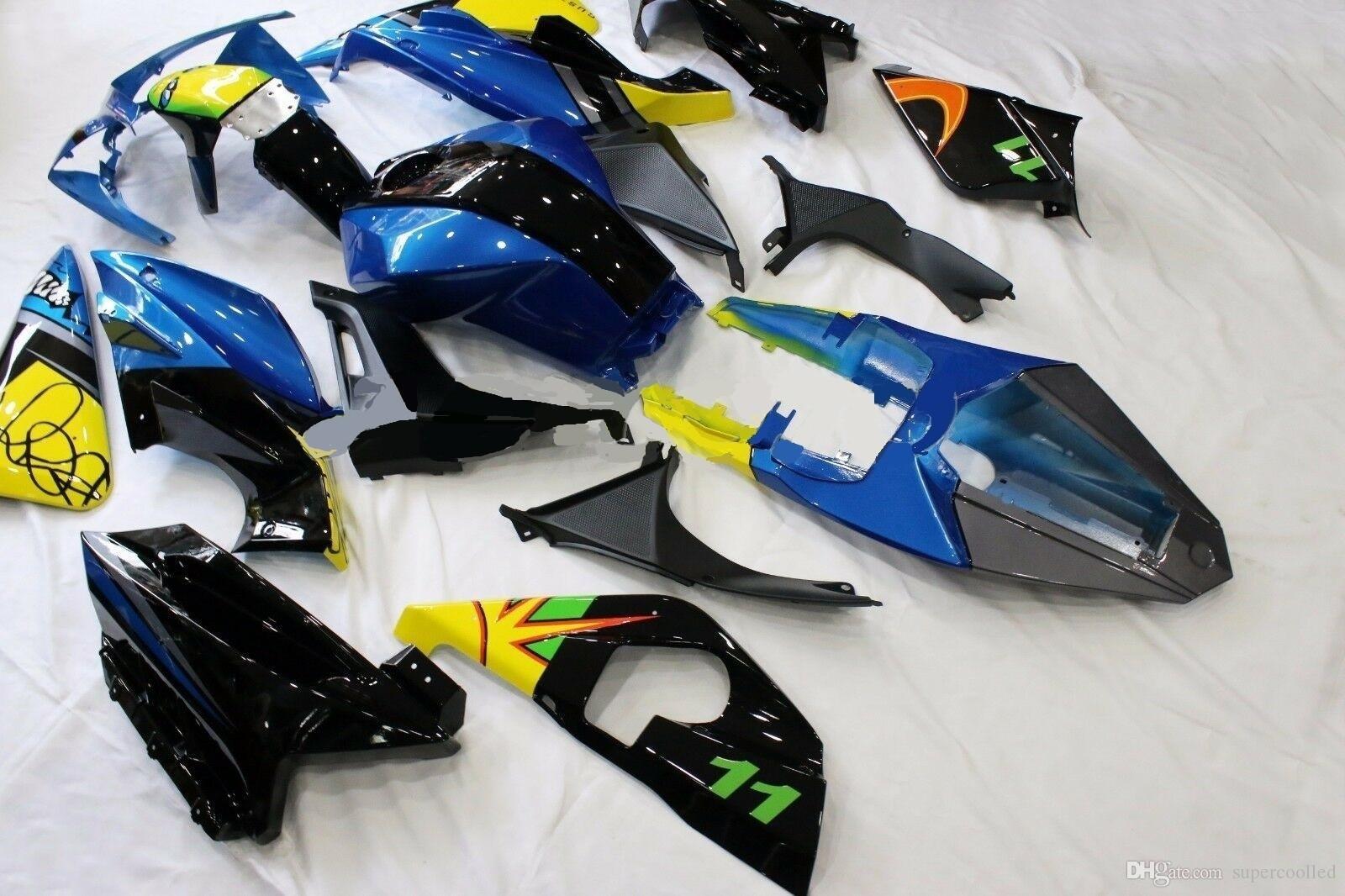 White//Black MPW 20 pieces Yamaha YZF-R125 2008-2013 Full Fairing Kit