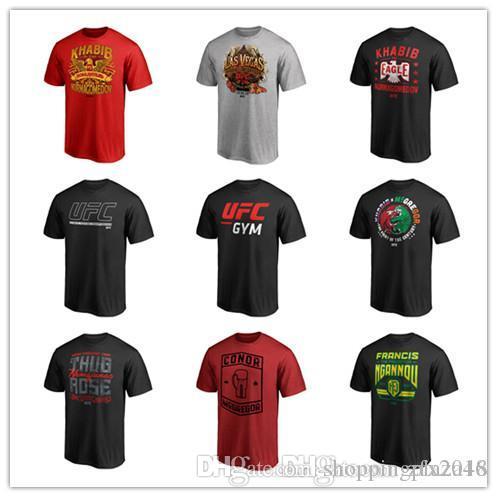 18 19 UFC Fighting Conor McGregor UFC Gorilla The Bear Artist Series T-Shirt outwear Shirt logo stampa 3D loghi Manica corta uomo s