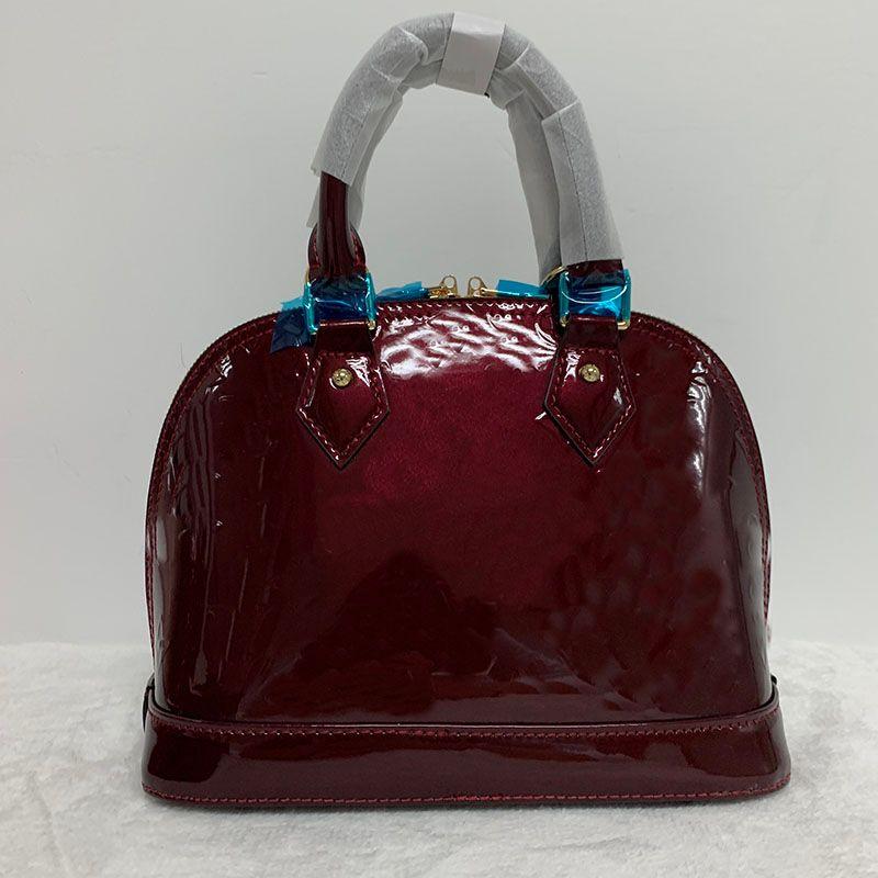 BAG CLASSICA SHELL DAMIER Grid in pelle vernice borse a tracolla Borse a tracolla Donne Canvas Crossbody Borsa Shopping Tote Pochette