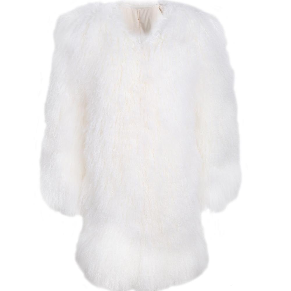 women fur coat ladies real fur coat natural lamb