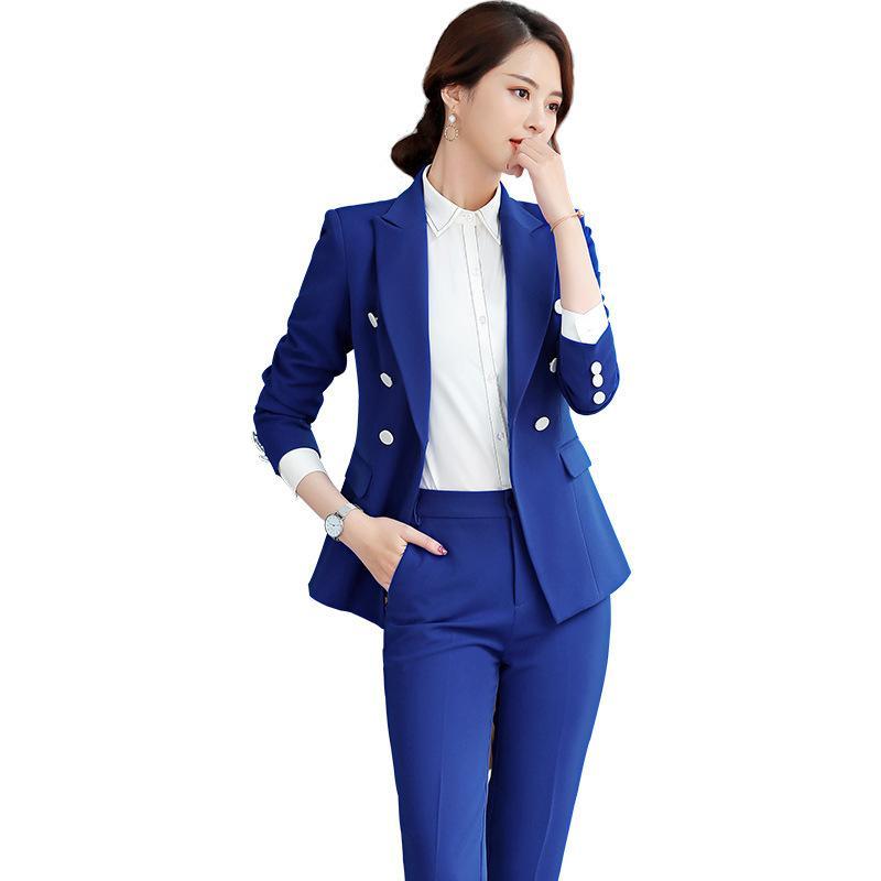2019 novo estilo britânico mulheres profissionais Terno de vestido profissional senhoras usam terno moda feminina