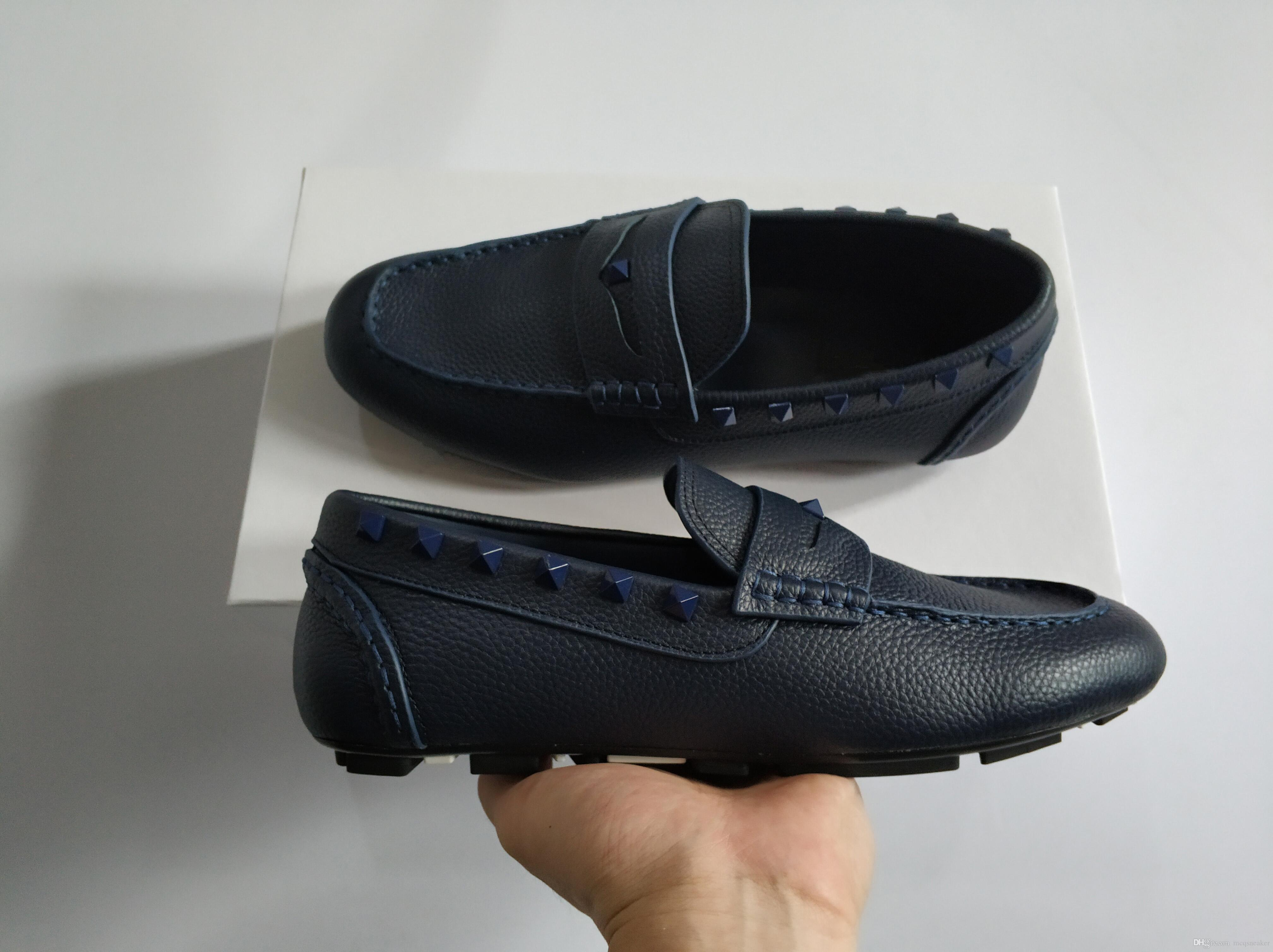 New Fashion high quality Designer shoes Soft Leather men leisure dress shoe for man party lazy falts Loafers 38-45