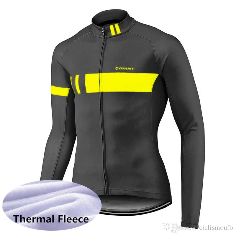 GIANT team Cycling Winter Thermal Fleece jersey Cycling Jacket Antivento Bicicletta Abbigliamento MTB Bike 53129