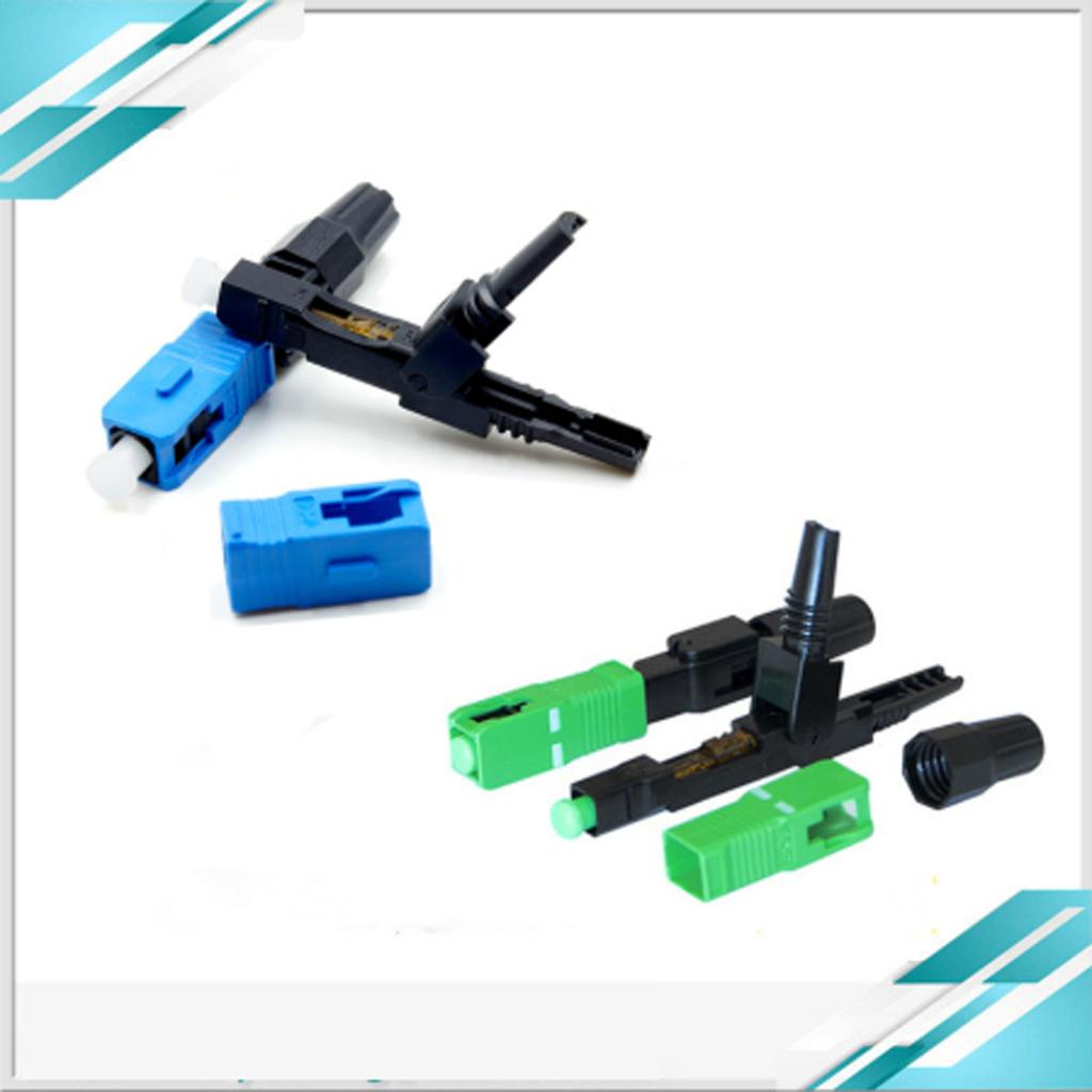 FTTH SC/APC/UPC optical fiber fast connector covered wire SC Splice Embedded-type quick connector SC fiber optic quick connectors