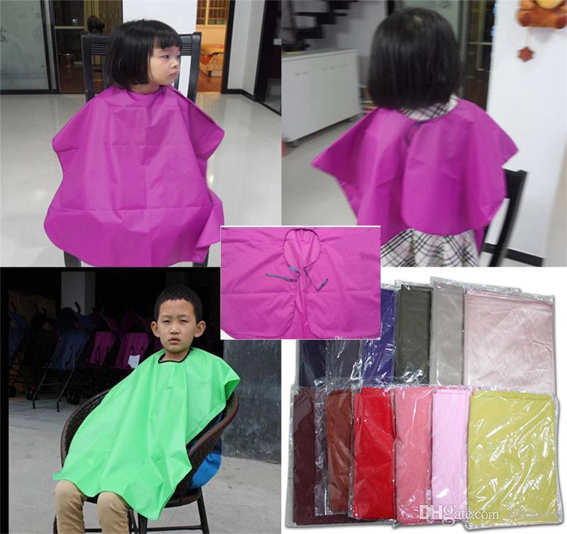 Criança nova criança salão À Prova D 'Água Corte de Cabelo Cabeleireiro Barbeiros Cape Vestido Pano Crianças Cabelo Do Bebê Capas Top Quality DC725