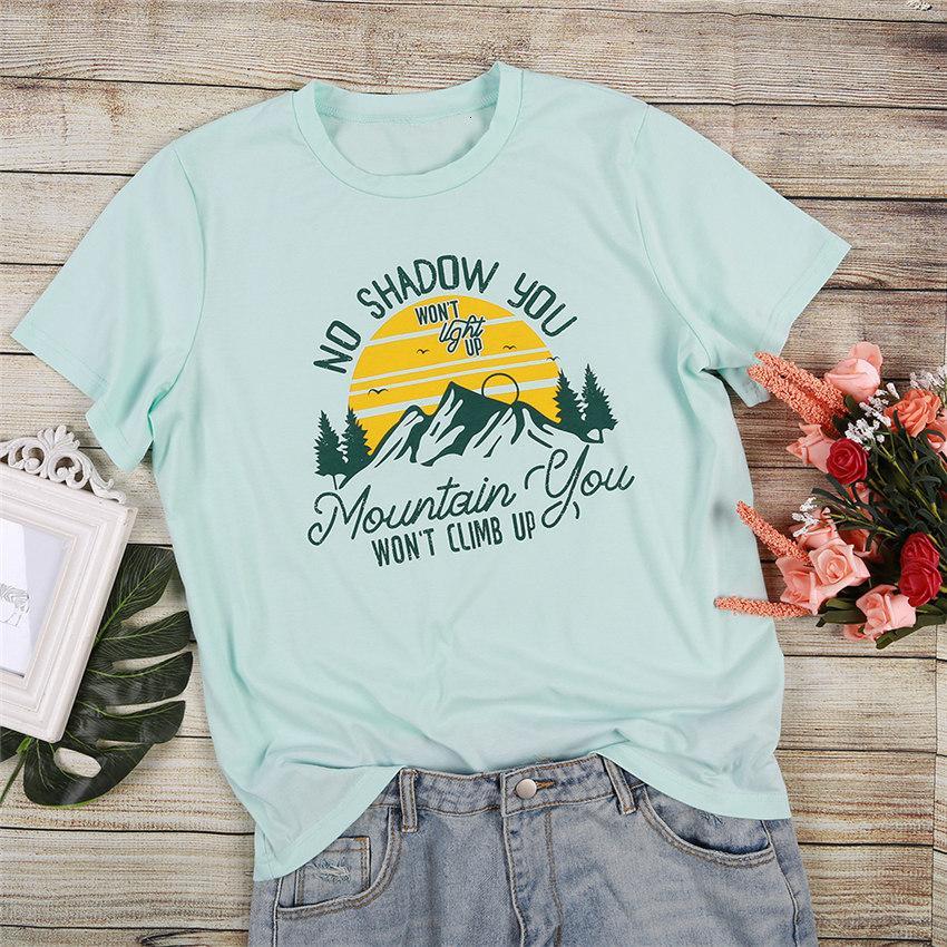 Harf tişört Kadın Yeşil Tee Gömlek 2020 Yaz Yeni Kısa Kollu Üst Lady Casual Gevşek Tişörtlü O-boyun Harajuku Tee Tops
