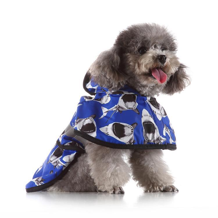 معطف واق من المطر مغطى بقلنسوة عاكسة للمطر سترة واقية من الماء لملابس الحيوانات الأليفة