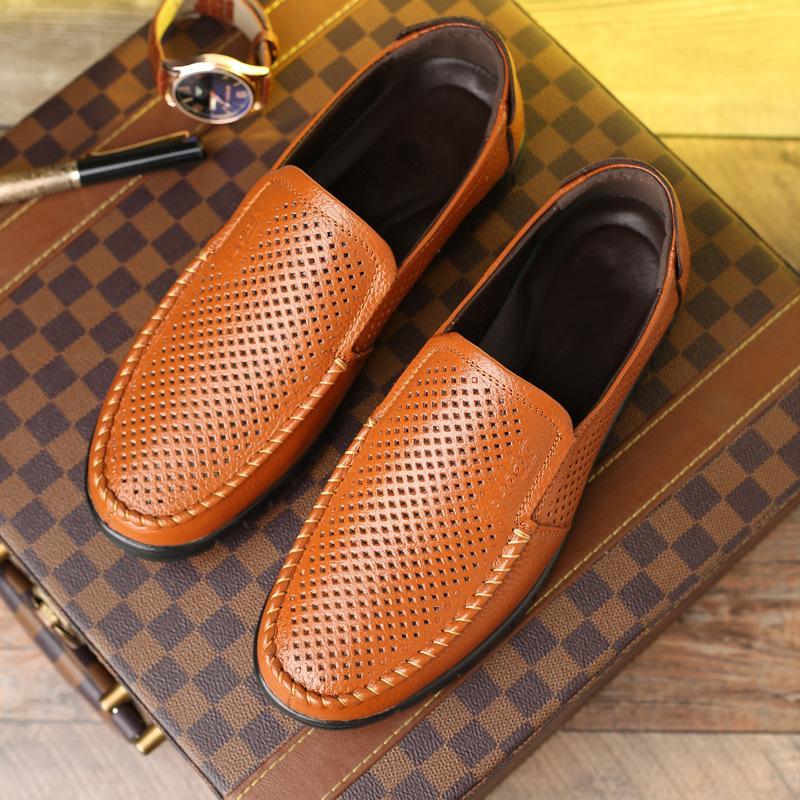 pamuk bükülebilir mokasen nefes rahat çalışma daireler baba yuvarlak parmaklar zy376 olmayan kayma ayakkabı kayma-erkekler deri Sıcak Satış-deri ayakkabı