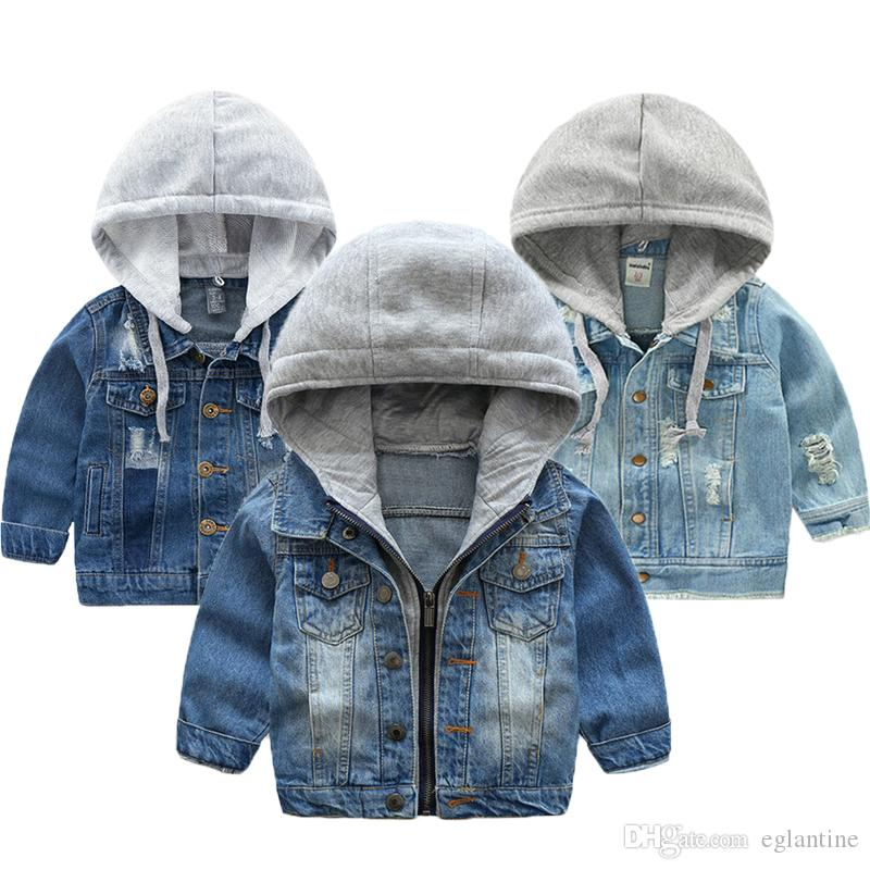 Baby Jeansjacke Herbst-Winter-Jacken für Jungen-Mantel-Kind-Oberbekleidung-Mäntel für Jungen-Kleidung Kinder Jacke 2-7 Jahr