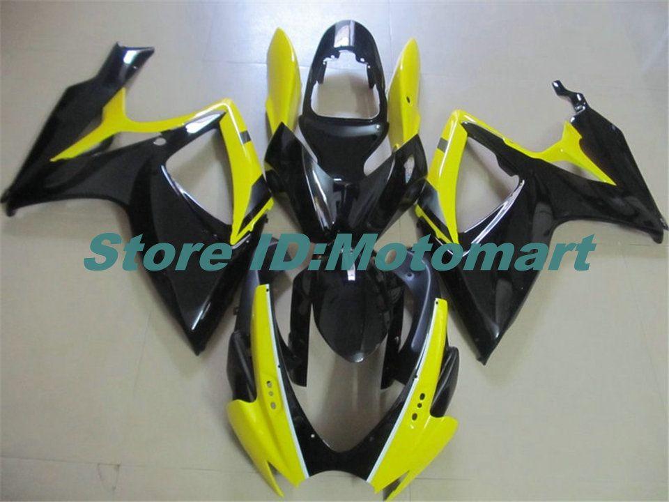 Carenado del ABS fijó para SUZUKI GSXR600 750 2006 2007 600 GSXR GSXR 750 K6 06 07 amarillo negro del carenado gs Kit + 7 regalos Sp100
