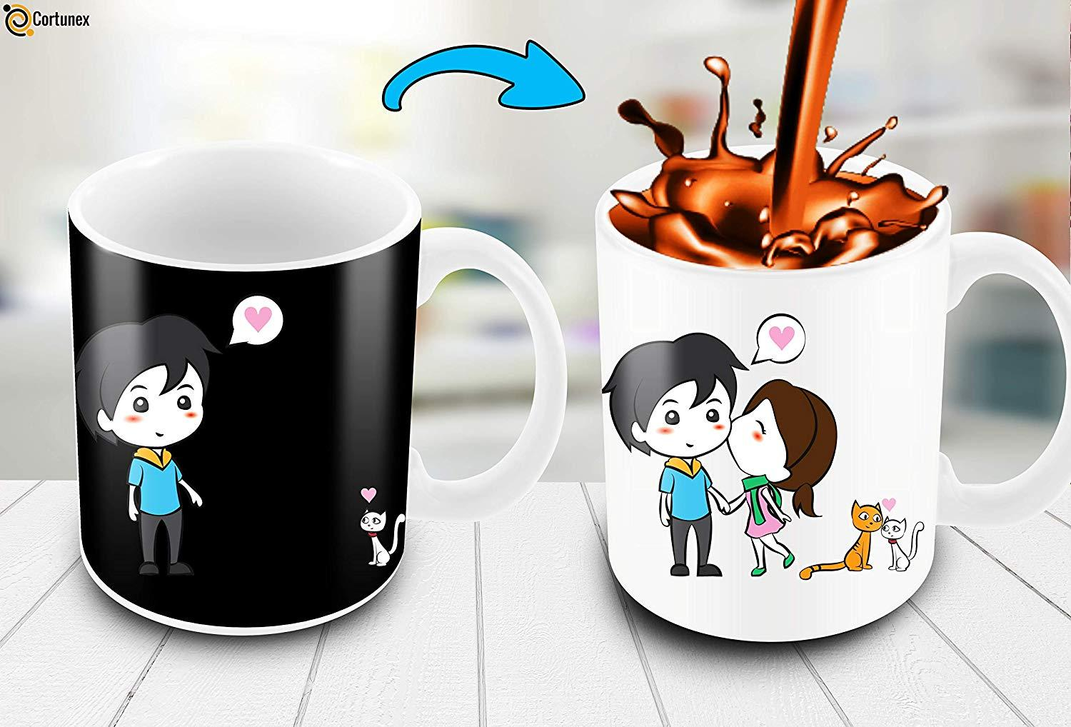 Heat Changing Mug With Lovely Cartoon Couples And Cute Cats Color Changing Coffee Mug Funny Cute Mug For Woman Custom Thermal Mugs Custom Travel Coffee Mugs From Cccofficialstore 9 05 Dhgate Com