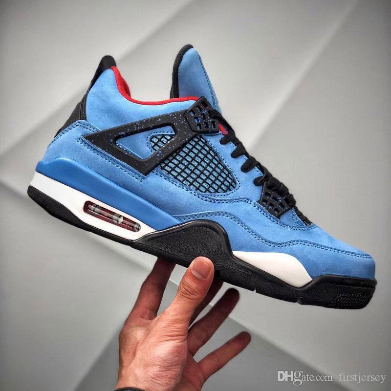 Bred FIBA 4 4s IV Erkek Basketbol Ayakkabı Ne Jumpman Cactus Jack Lazer Wings Denim Blue Eminem Soluk Citron Spor Tasarımcı Sneaker