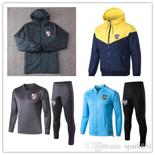 18 19 River Plate soccer jacket tracksuit kit 2019 Boca Juniors Quintero BORRE River Plate shirt Maillot Camisas futbol training jacket