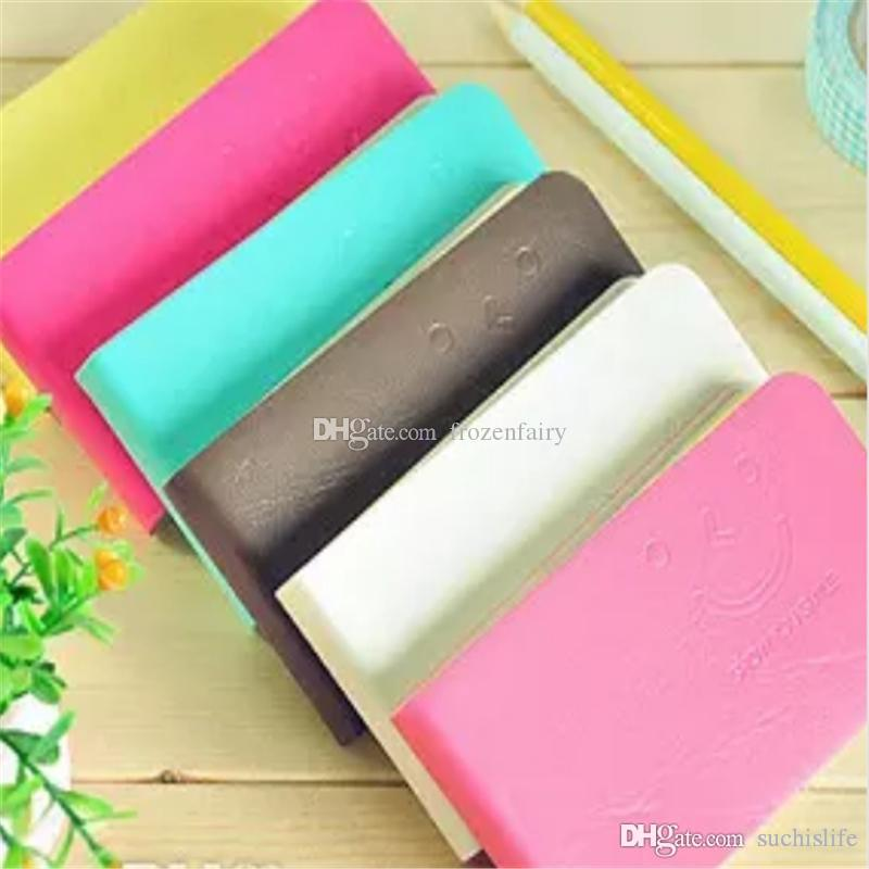 Cute Smiling Face Notepads Carry On Memo Small Notebook Mini Strip Notepad A Variety Of Color Inside Page Jotter Universal b473-480 201801