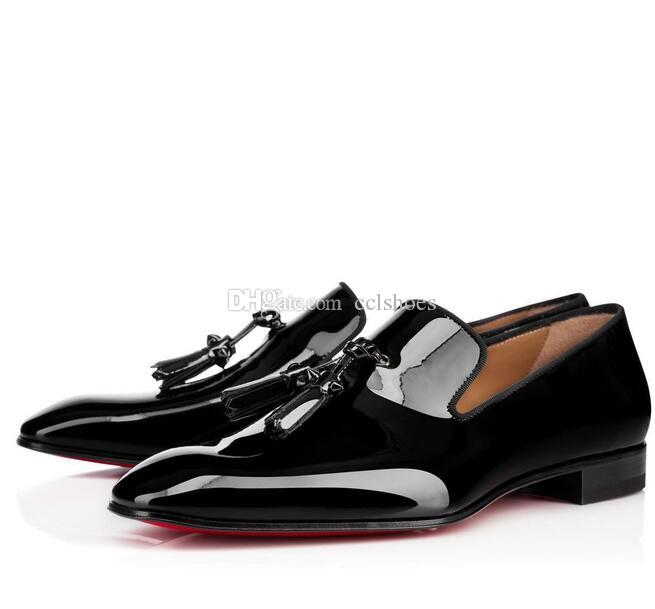 Herren Party Mode Rote Untere Schuhe Greggo Orlato Flache Schwarze Leder Oxford Schuhe Herren Frauen Gehen Wohnungen Hochzeit Party Müßiggänger 35-46