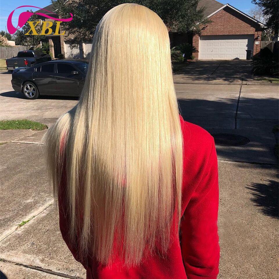 레이스 200 % 밀도 인간의 머리 머리띠 가발없이 직선 그리고 바디 웨이브 내에서 금발 인간의 머리 가발