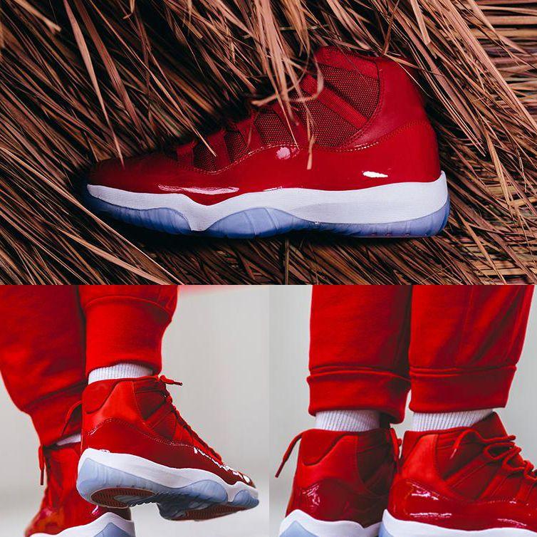 11 Kazanan 96 basketbol ayakkabı Gibi 11 s Spor Salonu Kırmızı Siyah Beyaz Erkekler Womens KUTUSU boyutu ile Spor Sneakers 36-47