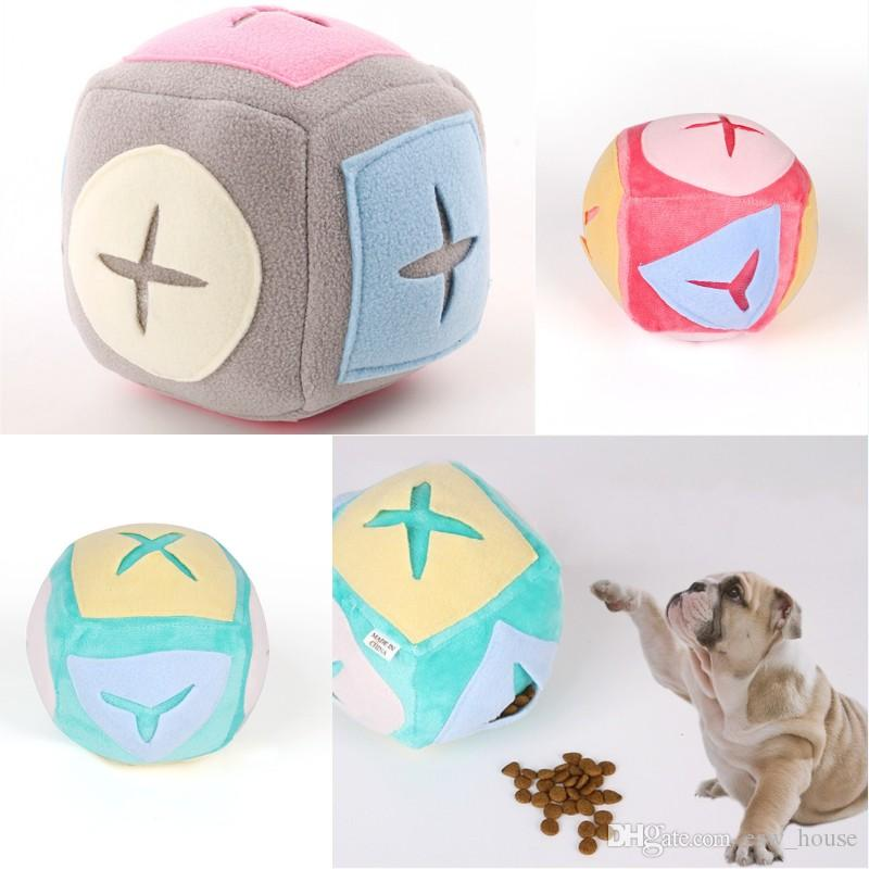 Pet Sniffing Ball Pet Dog Cat Training Puzzle Sniffing Ball Puppy Soft Fleece Sniffing Educational Play Balls