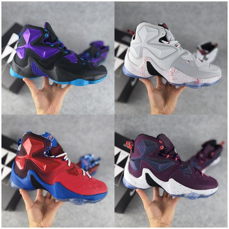 New Lebron 13 XIII Fantômes Ashes Floral Enfants Basketball Hommes Hommes Chaussures de course