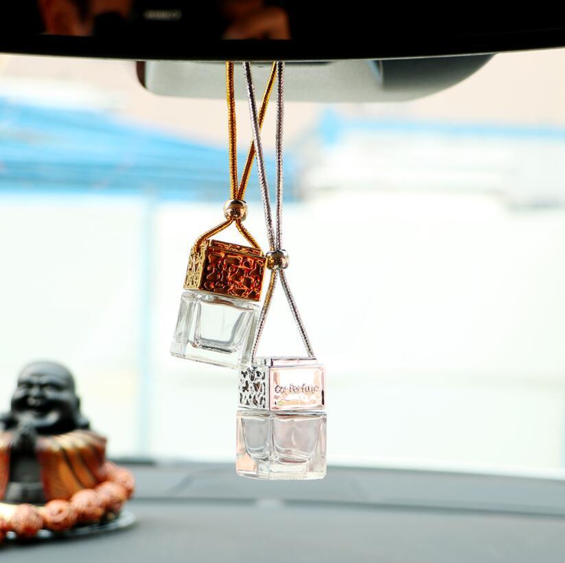 Botella de perfume para auto aceites esenciales ambientador colgante automático Ornamento de estilo Perfume Perfume Accesorios 8 ML Envío gratis